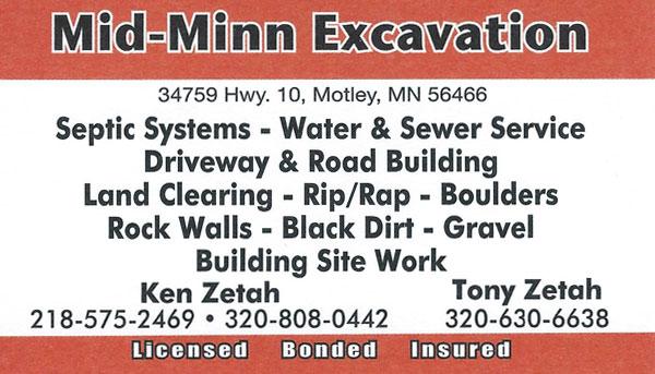 Mid-Minn Excavation